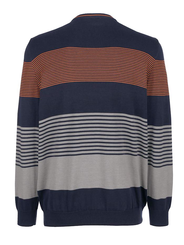 Pullover mit Streifenmuster rundum
