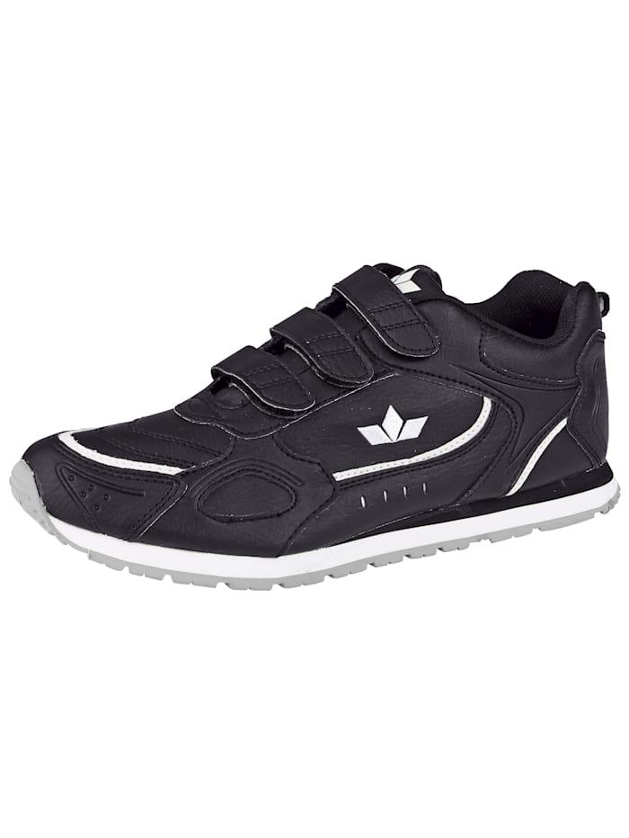 Lico klittenbandschoen met zool geschikt voor binnensport, Zwart