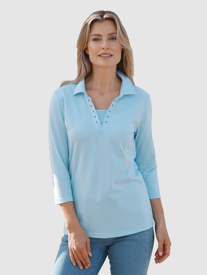 basically you T-shirt à rivets fantaisie, Bleu ciel