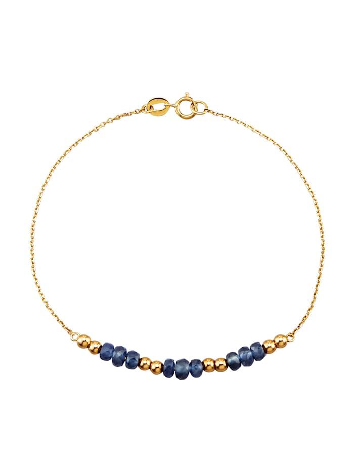 Bracelet avec saphirs avec saphirs (trait.), Bleu