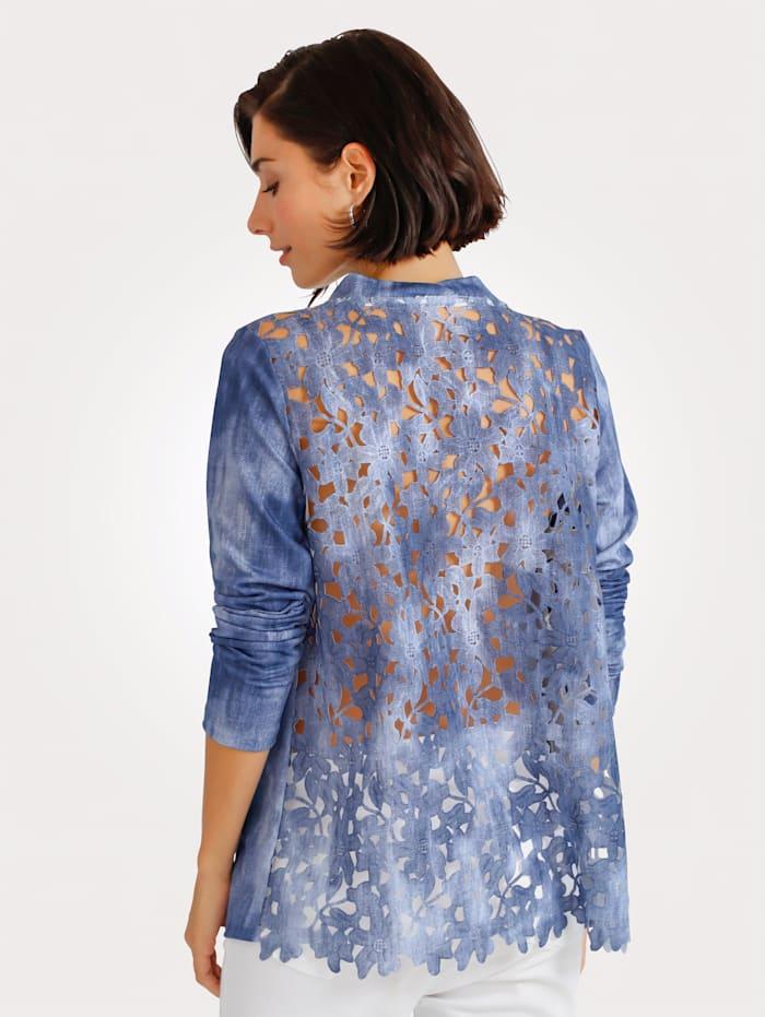 Shirtjacke mit Webspitze