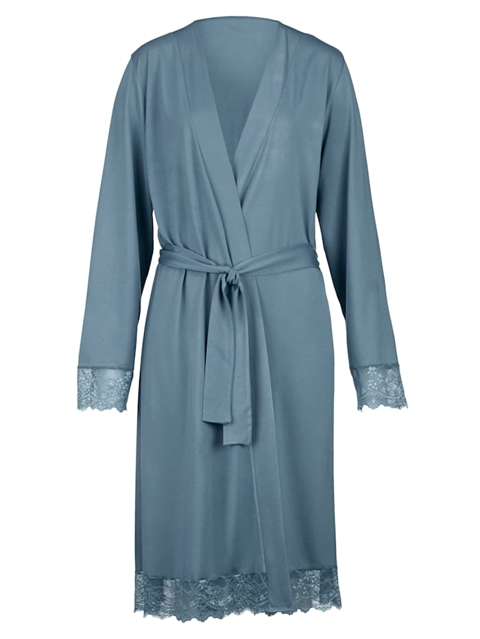 Dressing Gown with an elegant laced hem Set