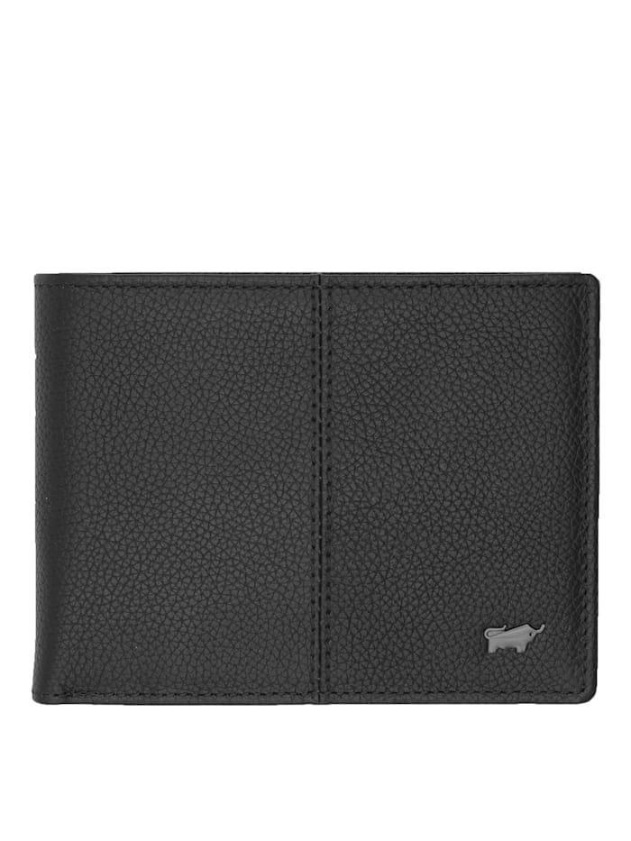 Braun Büffel Geldbörse VARESE mit zahlreichen Kartenfächern, schwarz