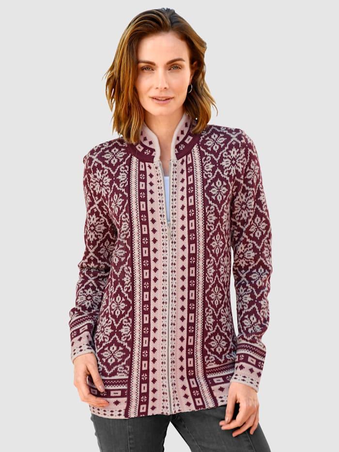 Vest Met chic jacquardpatroon