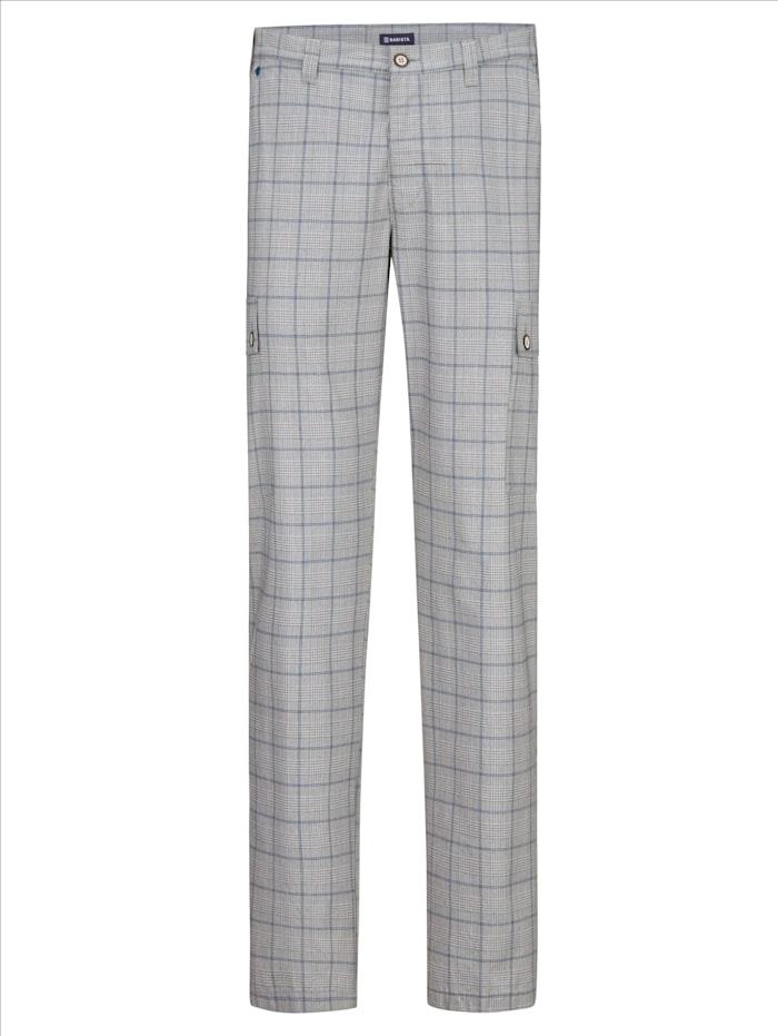 BABISTA Pantalon cargo en tissu estival, Gris/Bleu