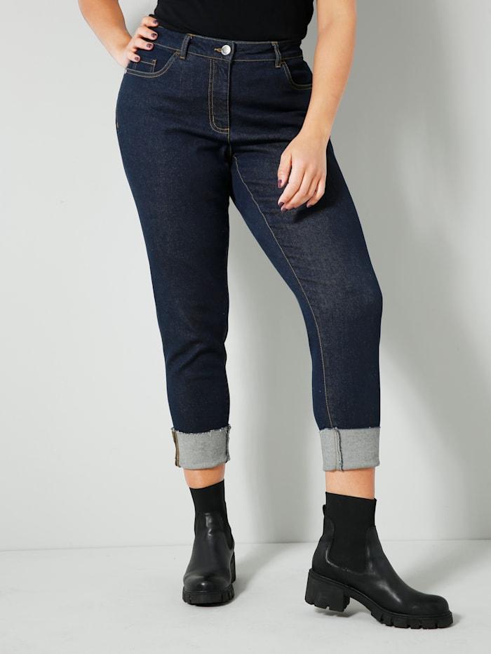 Angel of Style Jeans mit Umschlag am Saum, Dark blue