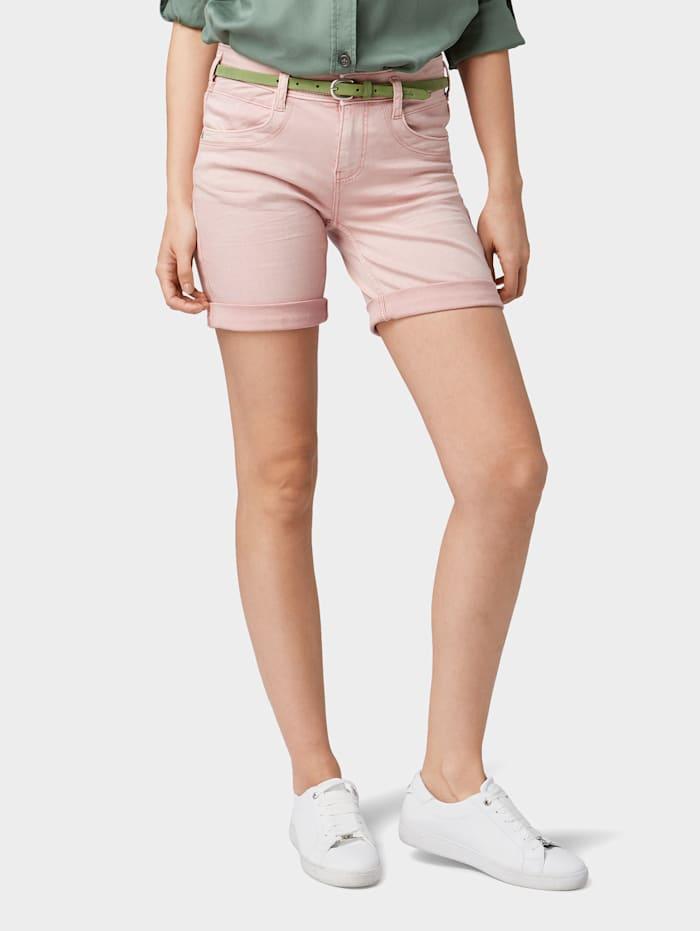 Tom Tailor Alexa Slim Jeans in Capri-Länge, Soft Pink