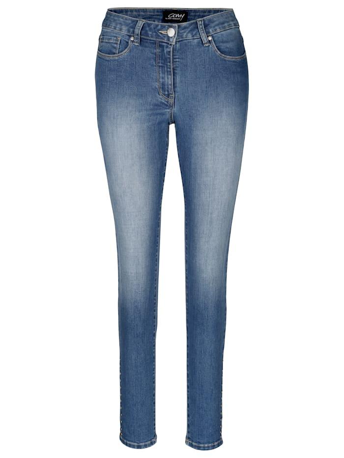 AMY VERMONT Jeans mit Nieten, Blue stone