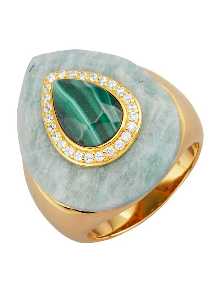 Damesring van echt zilver, Groen