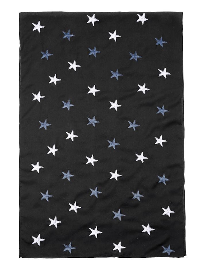 Tuch mit Sternenmotiven bestickt