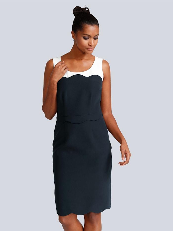 Alba Moda Kleid in Etuiform, Blau