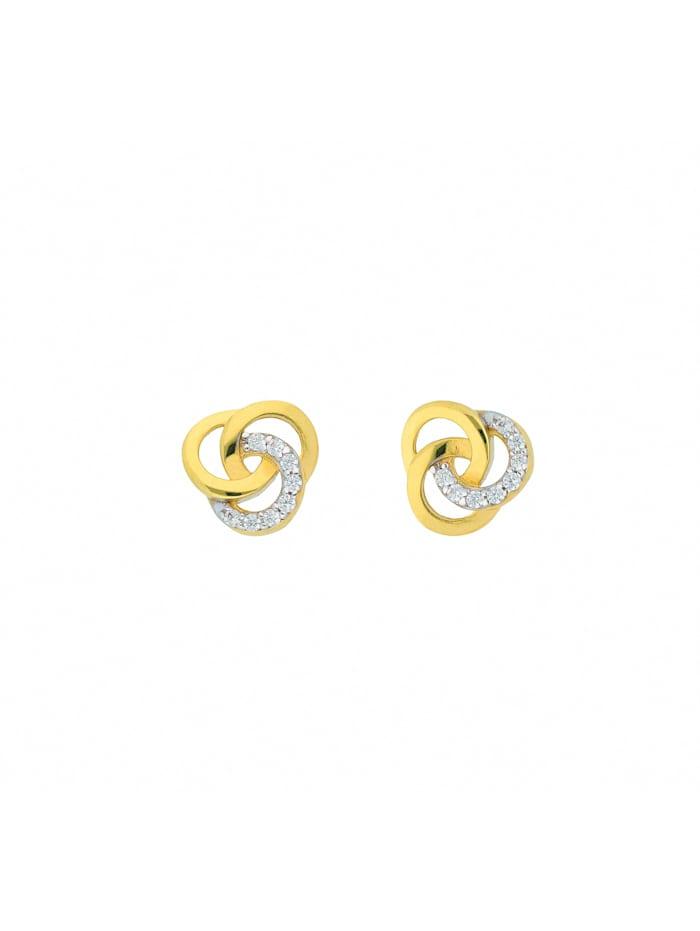 1001 Diamonds 1001 Diamonds Damen Goldschmuck 585 Gold Ohrringe / Ohrstecker mit Zirkonia, gold