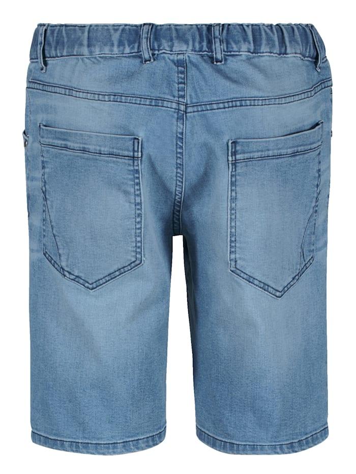 Jeansshorts med resårlinning