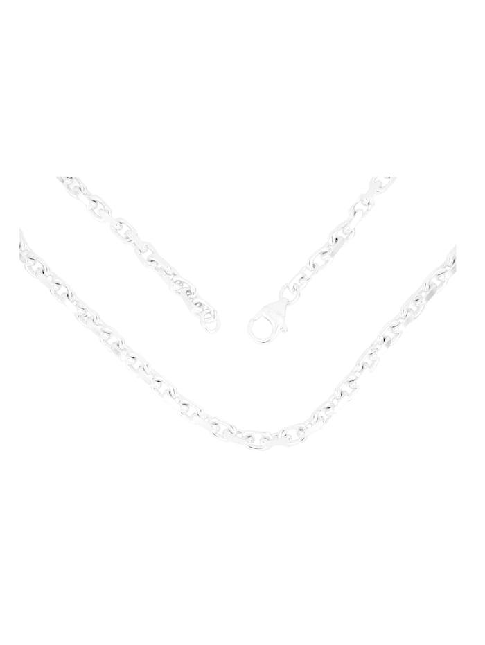 Grazielli Ankerkette diamantiert, Silberfarben