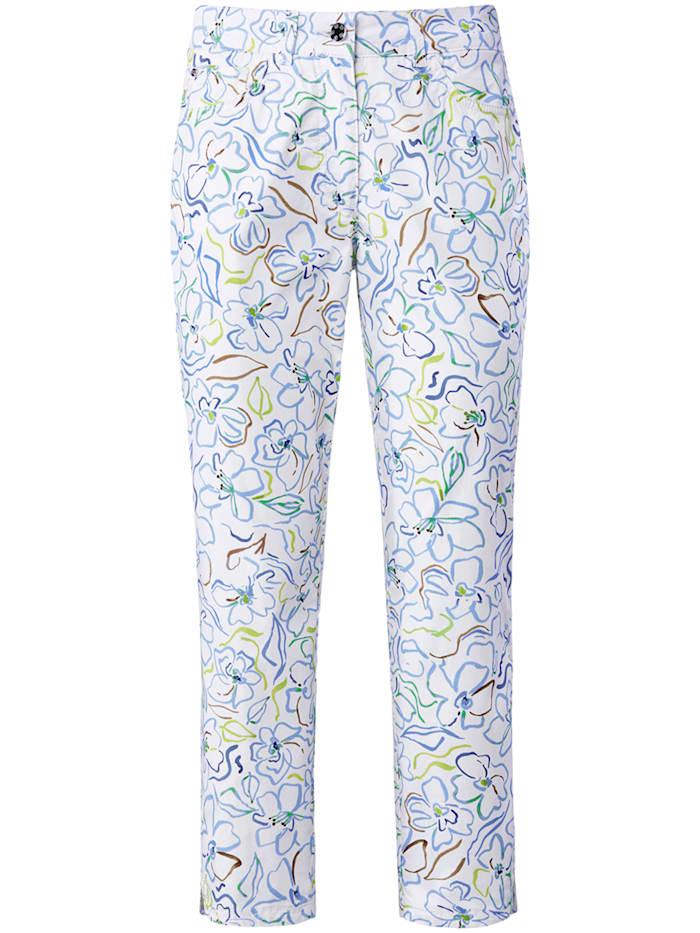 "Basler 5-Pocket-Jeans ""Julienne"" mit Allover-Print, white multicolour"
