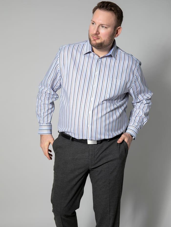 Hemd mit garngefärbtem Streifendesign