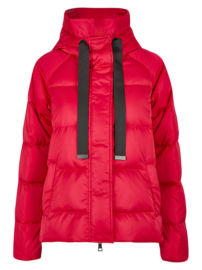 Daniel Hechter Moderne Daunen-Jacke mit vielen Details, cranberry