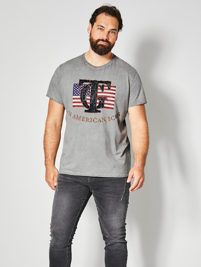 Top Gun T-Shirt aus reiner Baumwolle, Grau