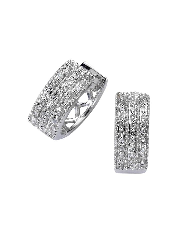 Diamonds by Ellen K. Creolen 585/- Gold Diamant weiß Diamant 1,3cm Glänzend 0,25ct. 585/- Gold, weiß