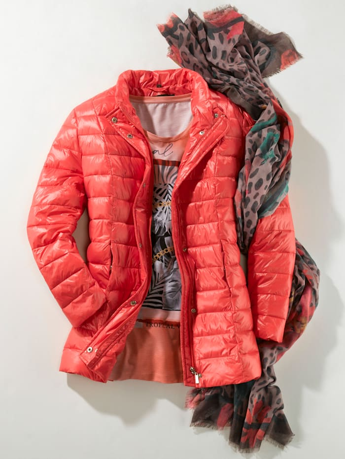 Angel of Style Sjaal, bruin/rood