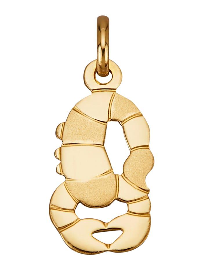"Amara Or Pendentif avec pierre de naissance ""Scorpion"" en or jaune 750, Coloris or jaune"