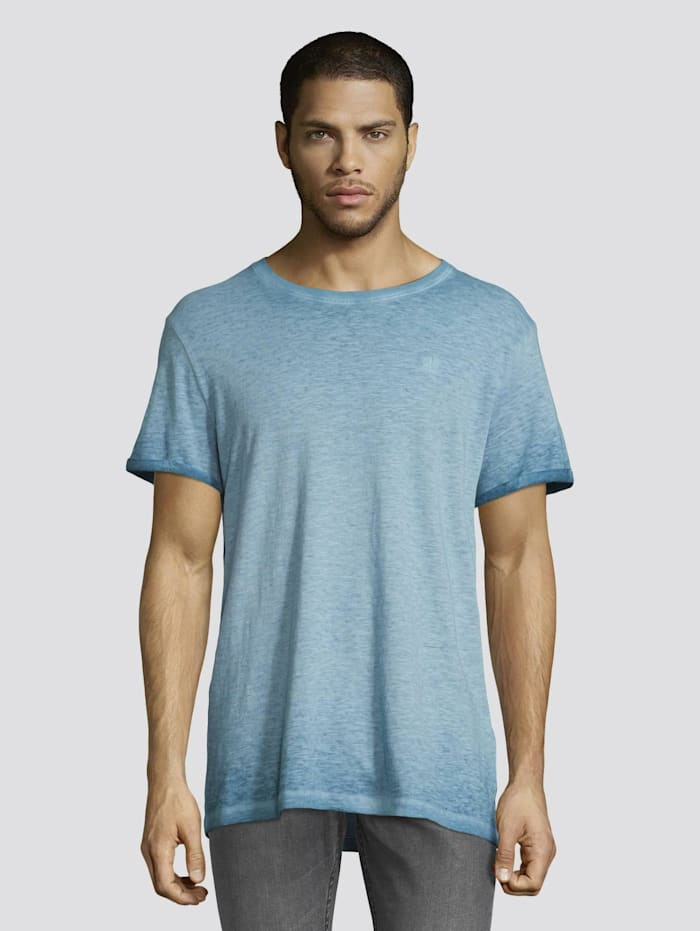 Tom Tailor Denim T-Shirt im Washed-Out-Look, north atlantic blue