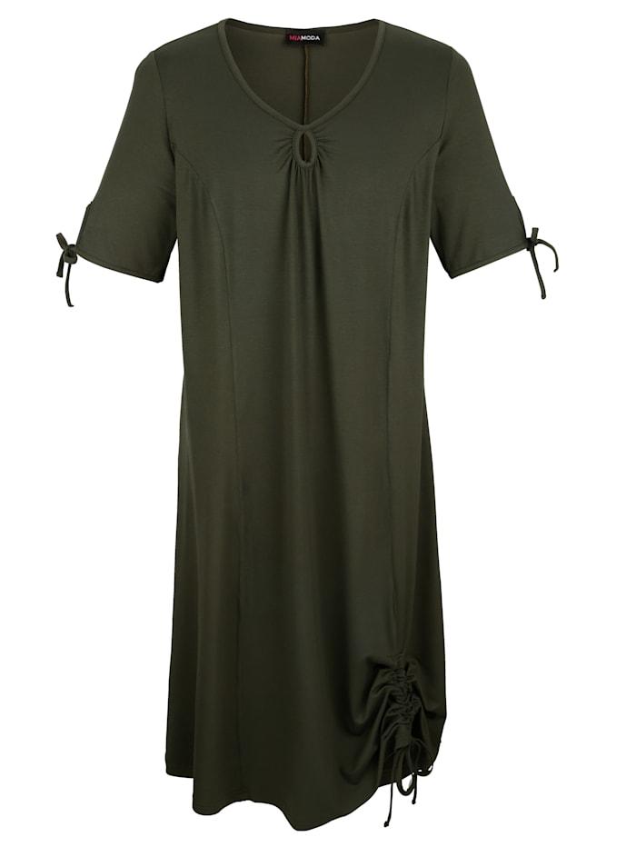 MIAMODA Kleid mit tollem Ausschnitt, Khaki
