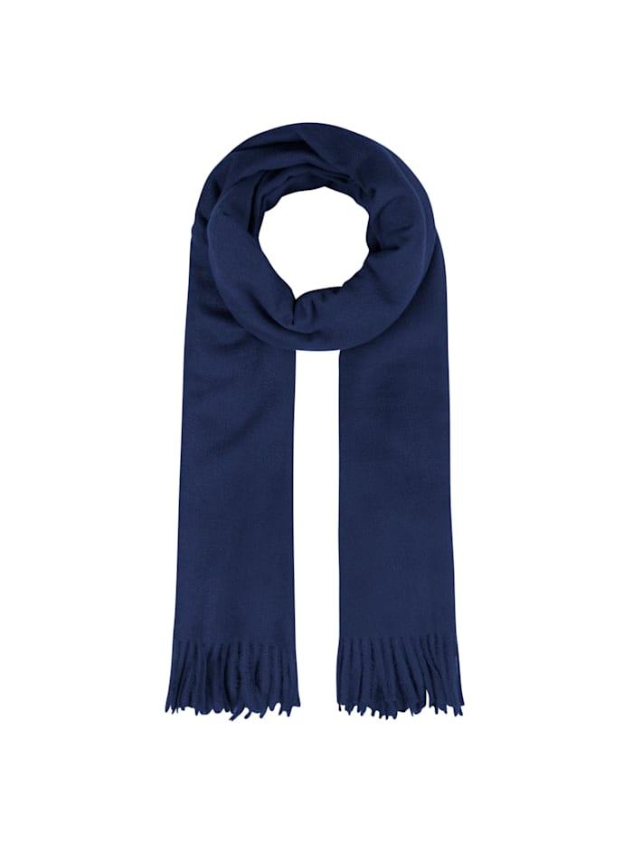 Codello Ultrasofter XL-Schal mit Fransen, dark blue