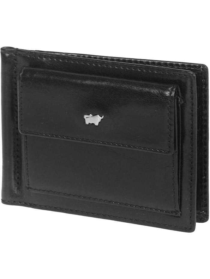 Braun Büffel Basic Dollarclipbörse III Leder 12 cm, schwarz