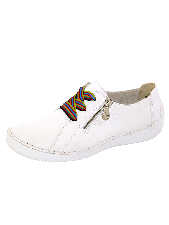 Rieker Lace-up shoes with a flexible sole, White