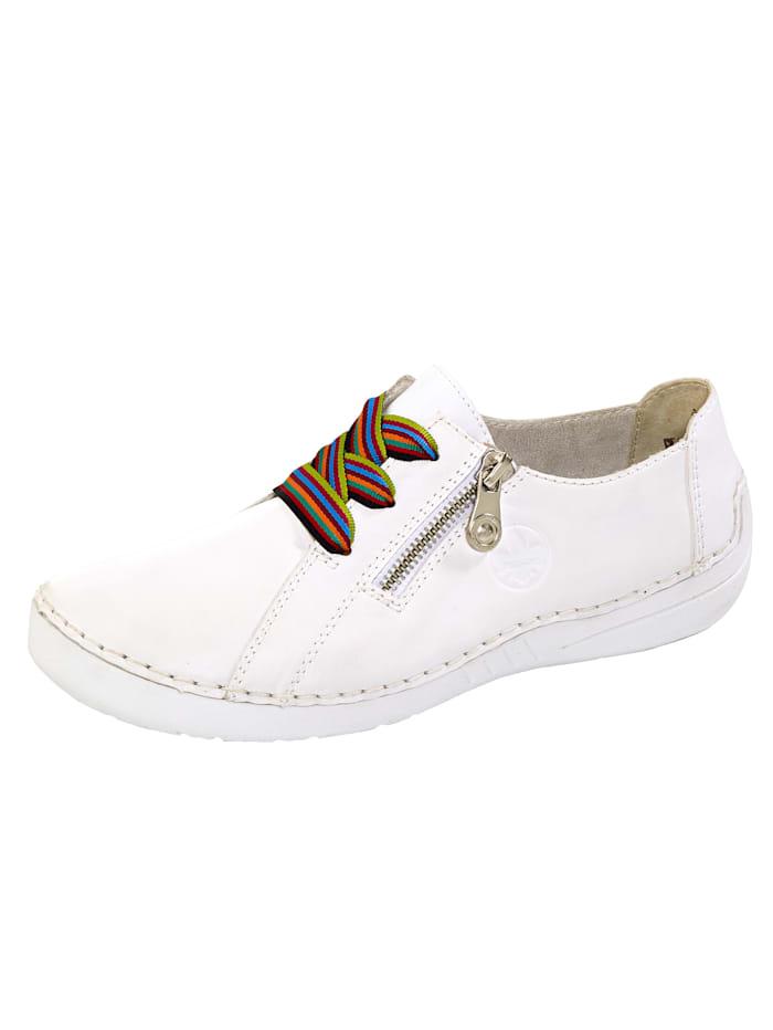 Rieker Schnürschuh mit superflexibler Laufsohle, Weiß