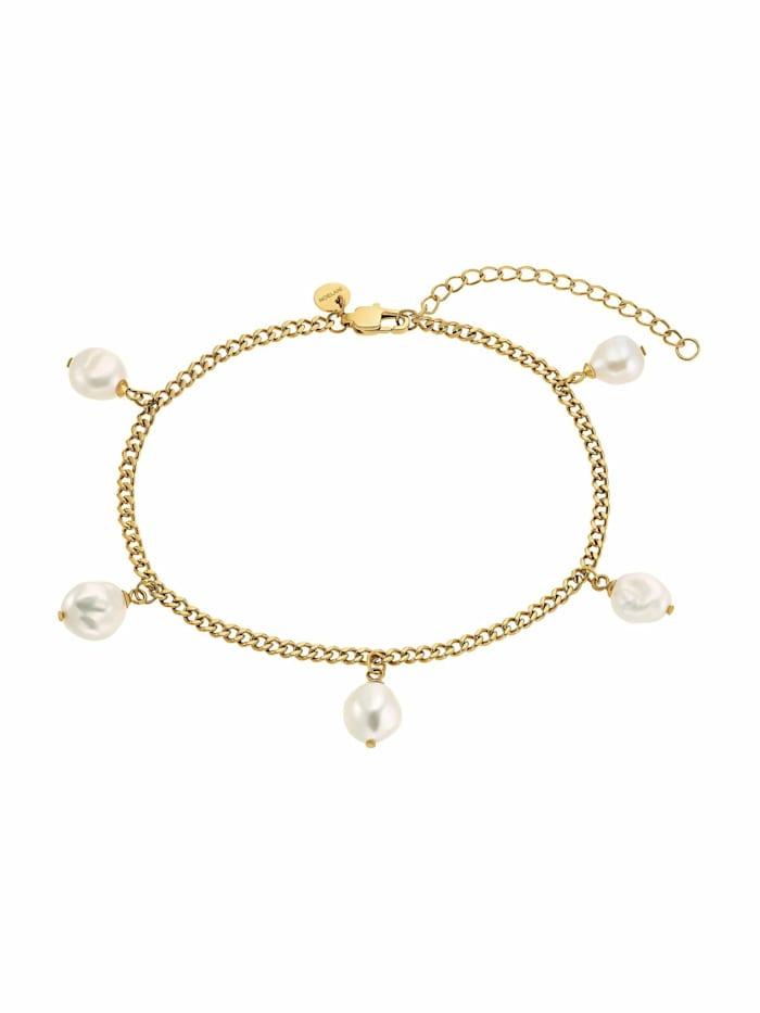 Noelani Fußkette für Damen, Edelstahl IP Gold |Perlen, Gold