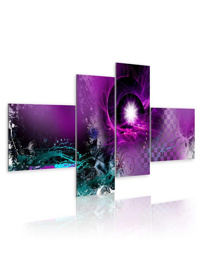 artgeist Wandbild Violetter Schein, turquoise,violet,white
