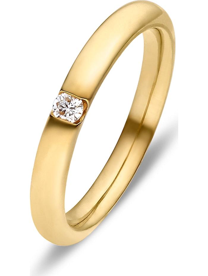 CHRIST Diamonds CHRIST Diamonds Damen-Damenring 1 Diamant, gelbgold