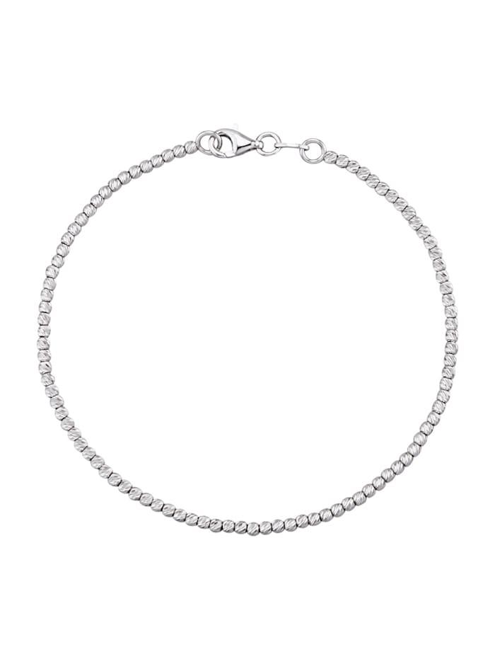 Armband i vitguld 14 k, Vitguldfärgad