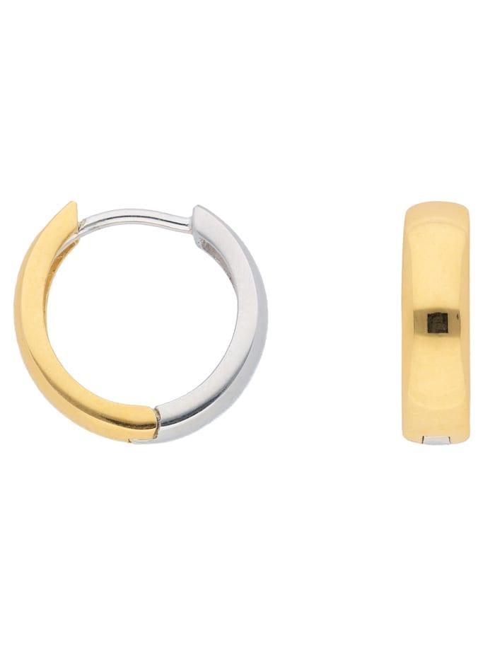 1001 Diamonds 1001 Diamonds Damen Goldschmuck 585 Weißgold Ohrringe / Creolen Ø 13,8 mm, silber