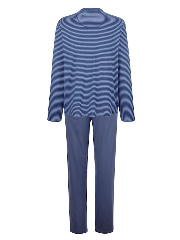 Pyjama à motif rayé tissé teint