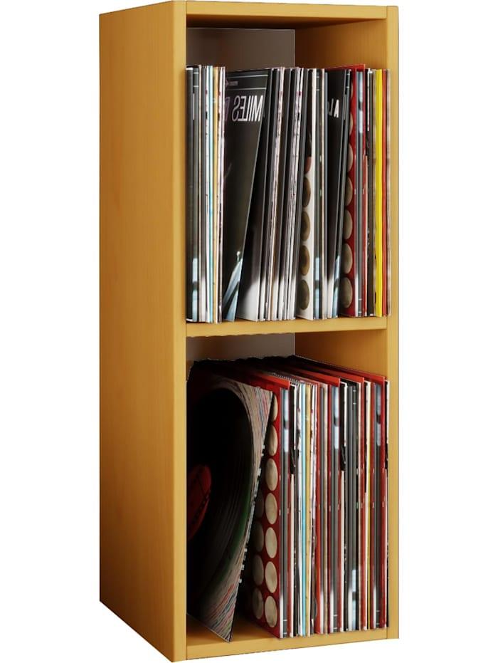 "VCM Schallplatten Regal ""Platto 2fach"", Buche"