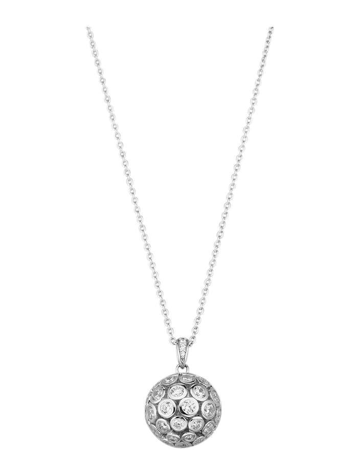 Diemer Trend Anhänger mit Kette in Silber 925, Weiß
