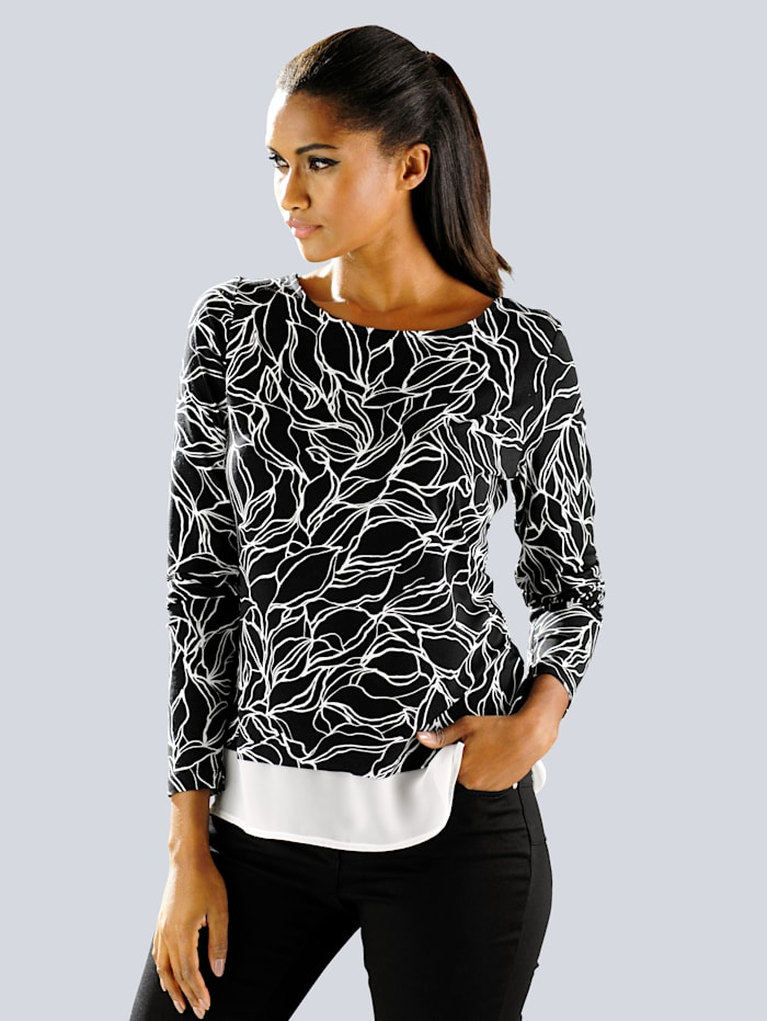 Shirt mit exklusivem Floralprint