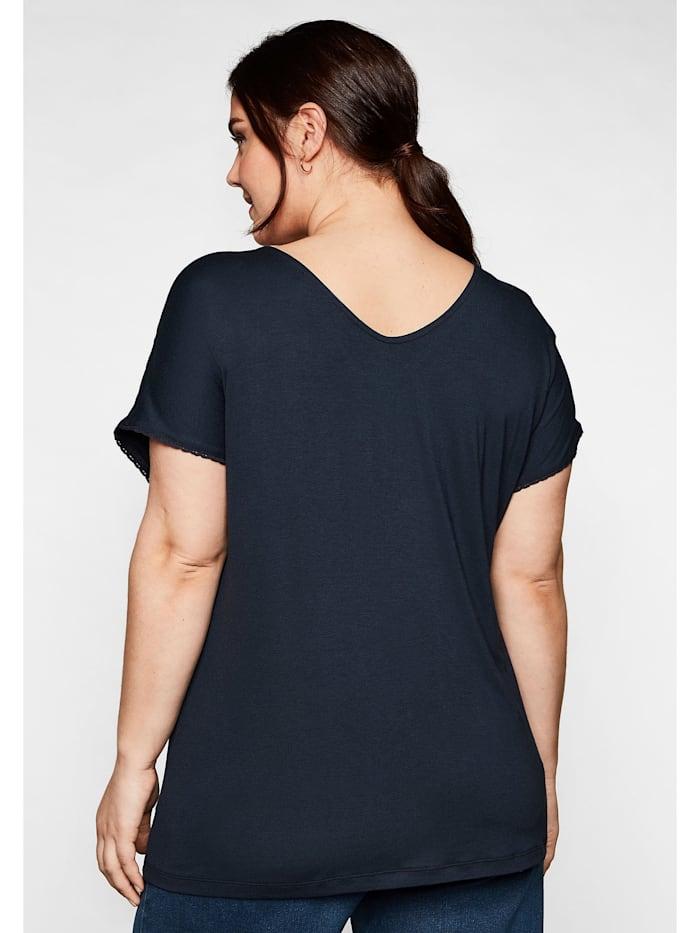 Sheego T-Shirt mit Spitzendetails