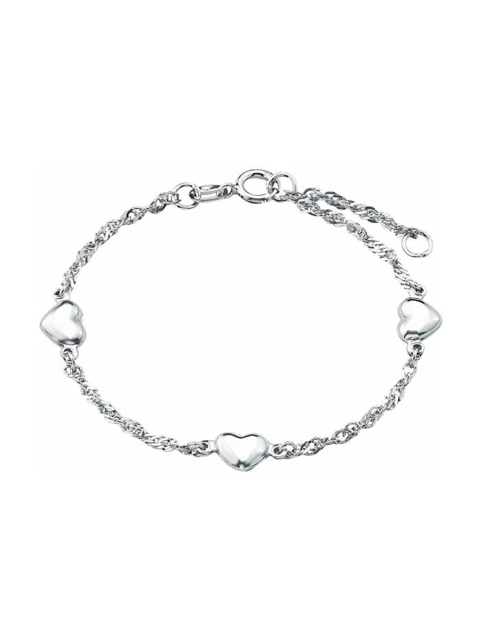 amor Armband für Damen, Sterling Silber 925, Herz, Silber