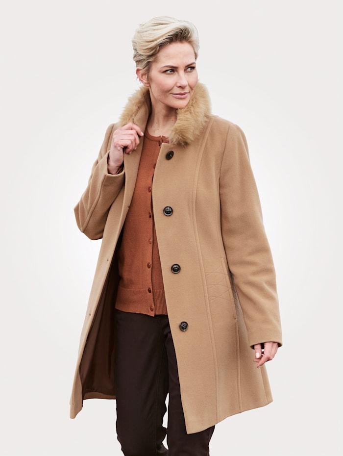 Barbara Lebek Manteau court en laine mélangée en cachemire mélangé, Camel