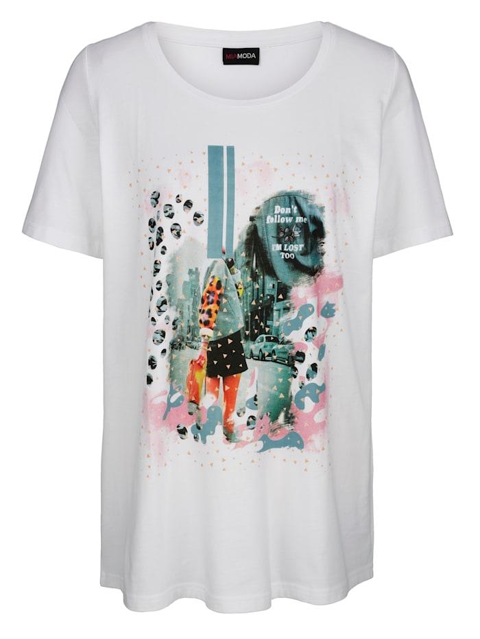 T-shirt à imprimé placé