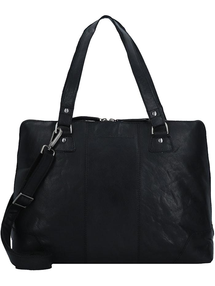 The Chesterfield Brand Resa Schultertasche Leder 38 cm Laptopfach, black