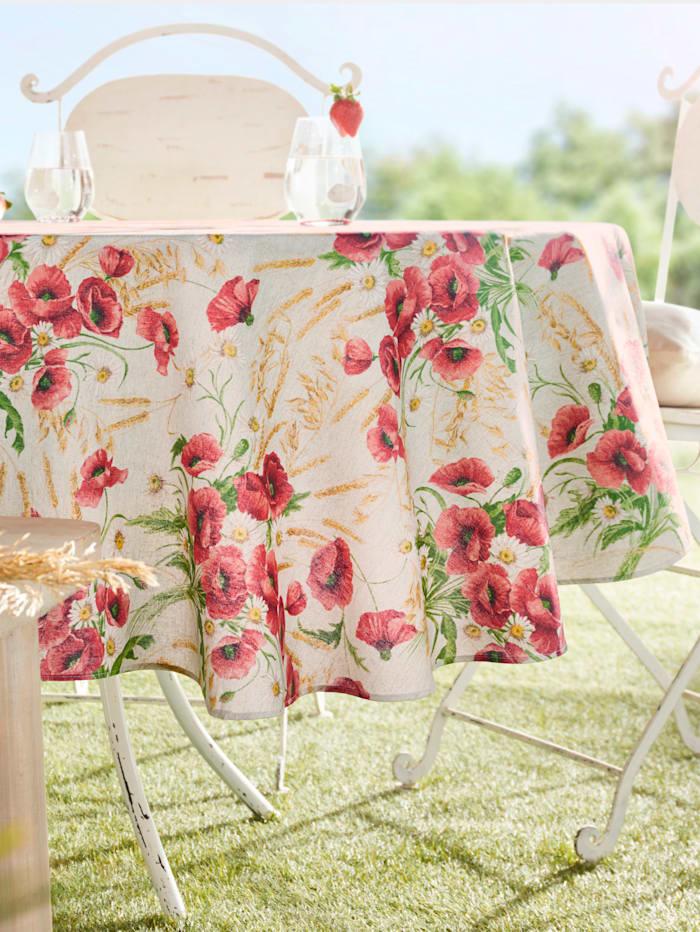 "Peyer-Syntex Linge de table ""Mona"", Rouge/beige"
