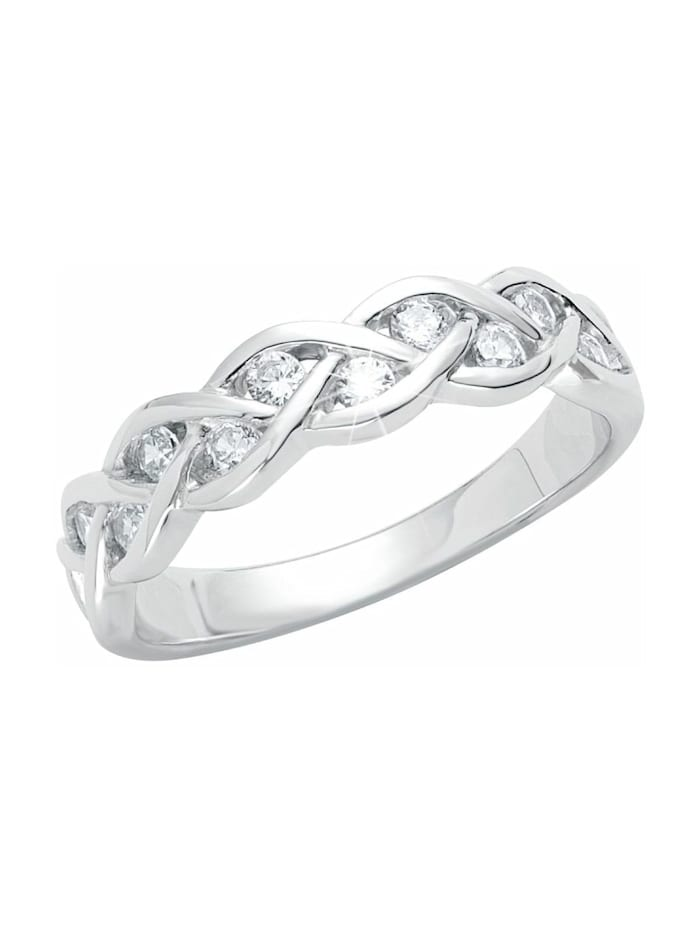 s.Oliver Ring für Damen, Sterling Silber 925, Zirkonia, Silber