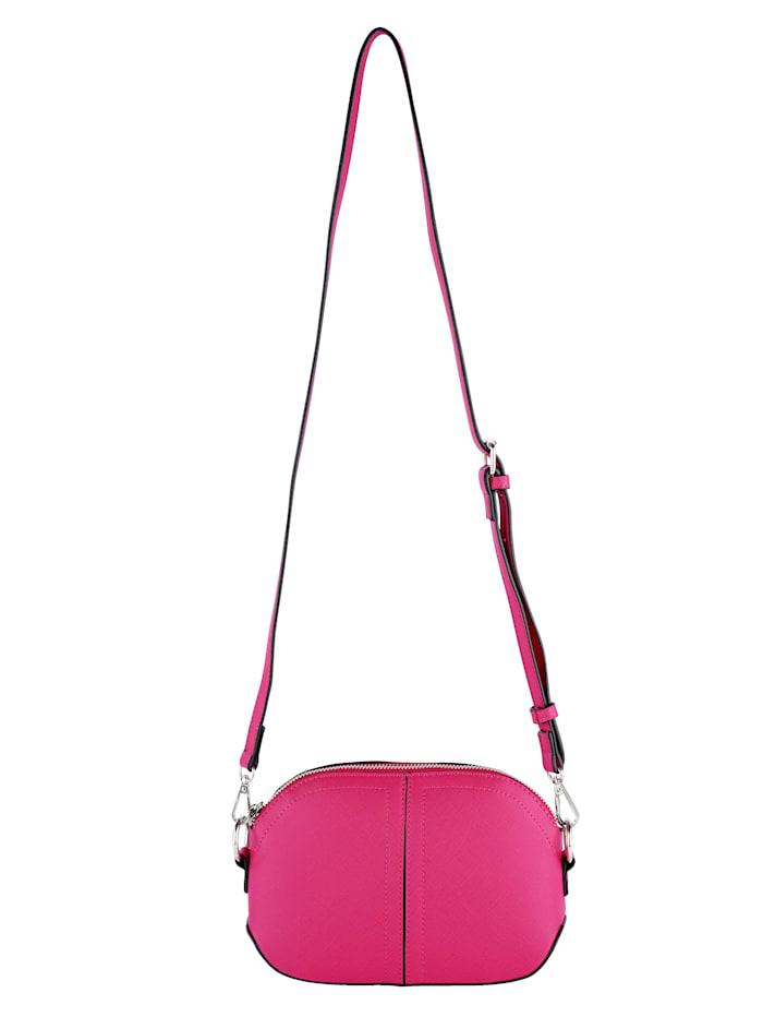 Collezione Alessandro Umhängetasche aus strukturiertem Softmaterial, Pink
