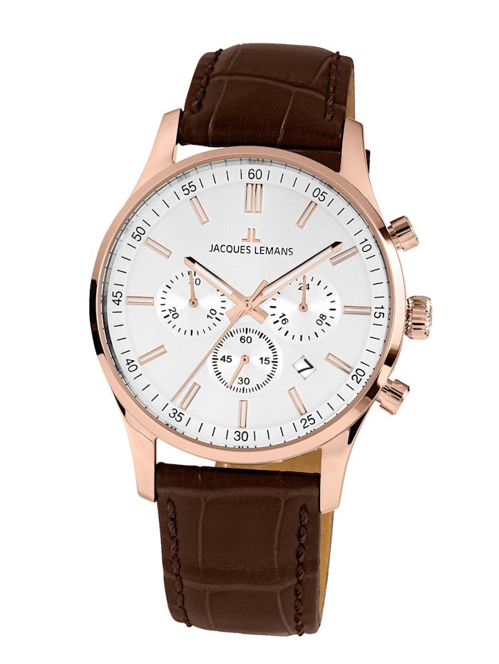 Jacques Lemans Herrenuhr-Chronograph Serie: London, Kollektion: Classic 1-2025E, Rosé