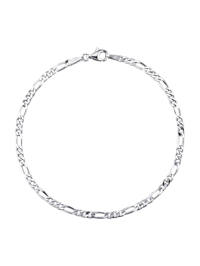 Figaroarmbånd i sølv 925, Sølvfarger